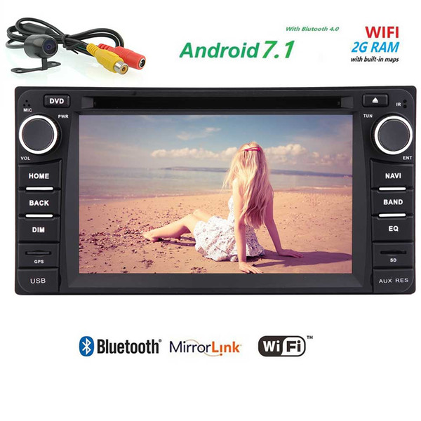 Android 7.1 Double Din Car Stereo for TOYOTA Corolla 1080P Video Play Monitor Car DVD Player in dash GPS Autoradio Head Unit
