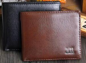 Hot sale! brand men short Wallet, classic fashion male patchwork purse with coin pocket &card holder with gift box