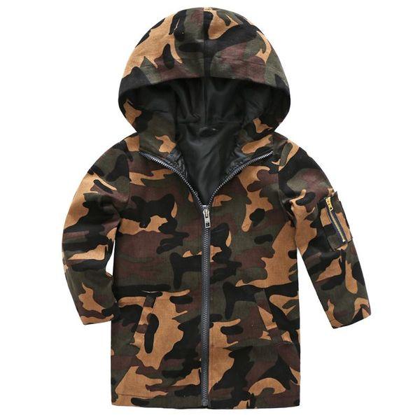 Von Jacken Kapuzenjacke Mantel Großhandel Camo Oberbekleidung Winddicht Winterjacke Koreanische Frühling Mäntel Kinder Kinderkleidung wkOn80P