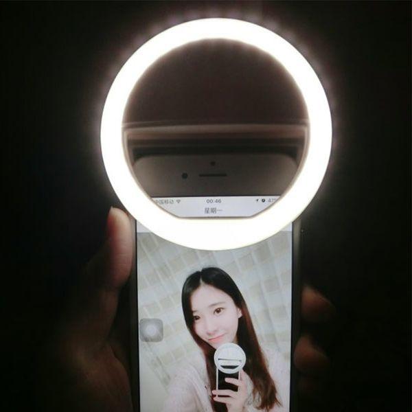 USB batterie rechargeable 4 niveaux de lumière selfie Led caméra téléphone photographie Ring Light Enhancing Photography pour iPhone Samsung