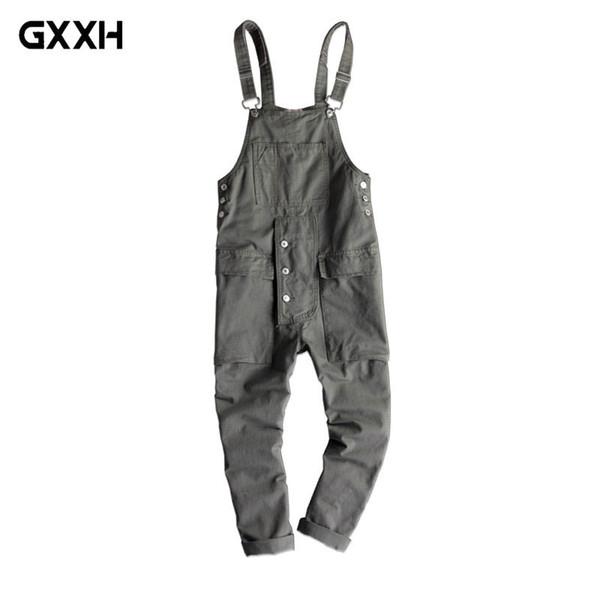 2018 New Fashion Hip-Hop trend Casual Jumpsuit pants Men/Women Loose Sling pants Japanese Retro Overalls trousers Size S M-4XL