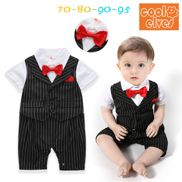 3c4a9ef192f6 Summer Boy Striped Rompers Baby Boy Clothes Kids Boys Fashion Gentleman  Jumpsuits Babies Casual Romper 2018