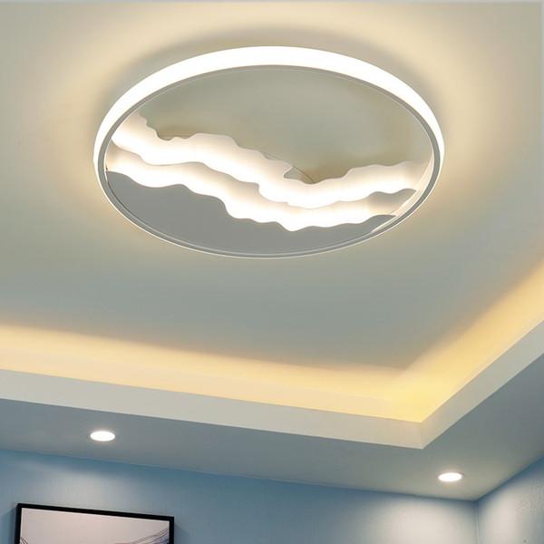 Großhandel Einfache Moderne Led Wohnzimmer Deckenleuchte Studie Officled  Lampen Haushalt Led Deckenleuchte Schlafzimmer Kinderzimmer Deckenleuchte  Led ...