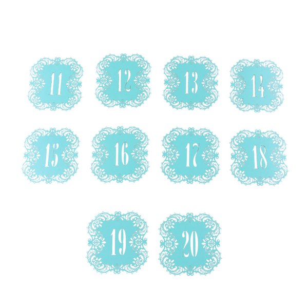 10PCs Romantic Vintage Wedding Table Number Table Cards Hollow Laser Cut Card Numbers Home Decor Party Favors