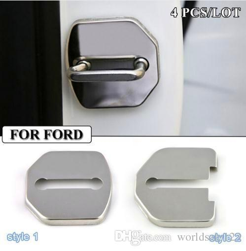 Car-styling Stainless Steel Door lock cover case for Ford focus 2 3 fiesta mondeo fusion kuga ecosport Car Buckle Accessories Car styling