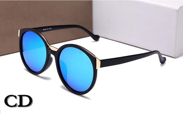 2018 Новая Франция дизайнер популярные солнцезащитные очки для женщин мужчин круглый полный кадр высокое качество UV400 защиты солнцезащитные очки бренд старинные тени очки