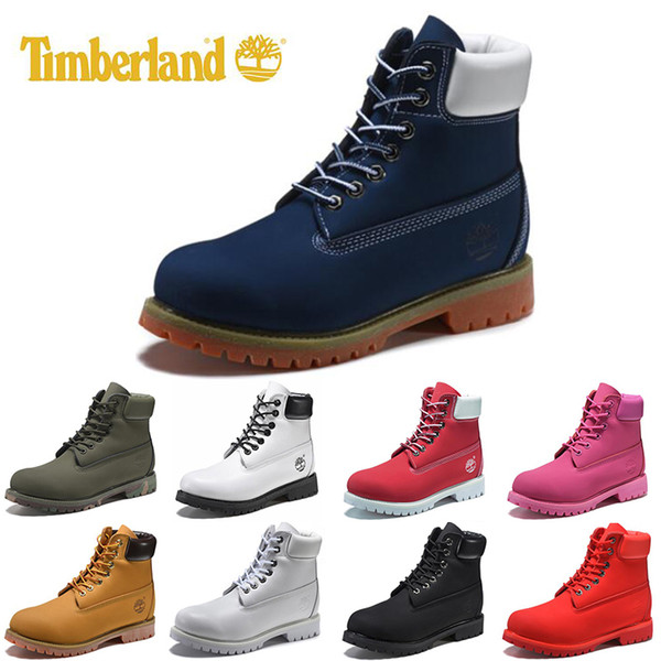 Original Timberland mens women winter boots chestnut black white red blue Grey womens men designer boot size 5.5-11 fast shipping on sale