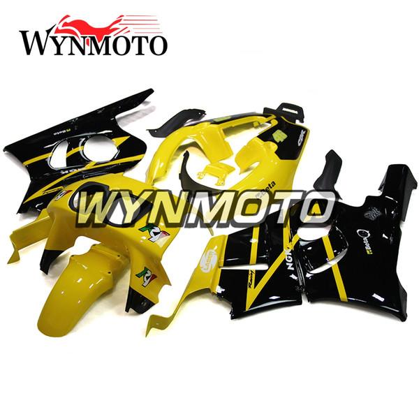 Carenados completos para Honda CBR400RR NC29 1990 - 1999 CBR400R 90 - 99 Cuerpo de plástico Kit Panel Fundas de carrocería Amarillo Negro