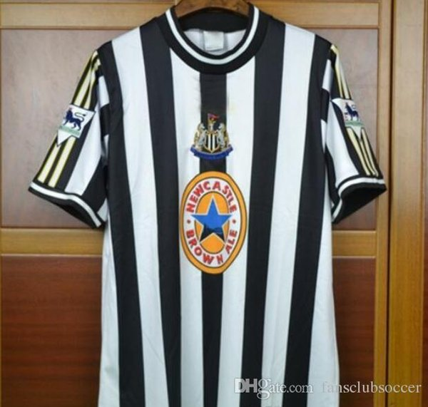 new product 18a22 e3fb6 2017 Retro Soccer Jersey 1997 1999 Newcastle United Alan Shearer Vintage  Throwback 9 Shearer Retro 97 99 Newcastle United Soccer Jersey Football  From ...