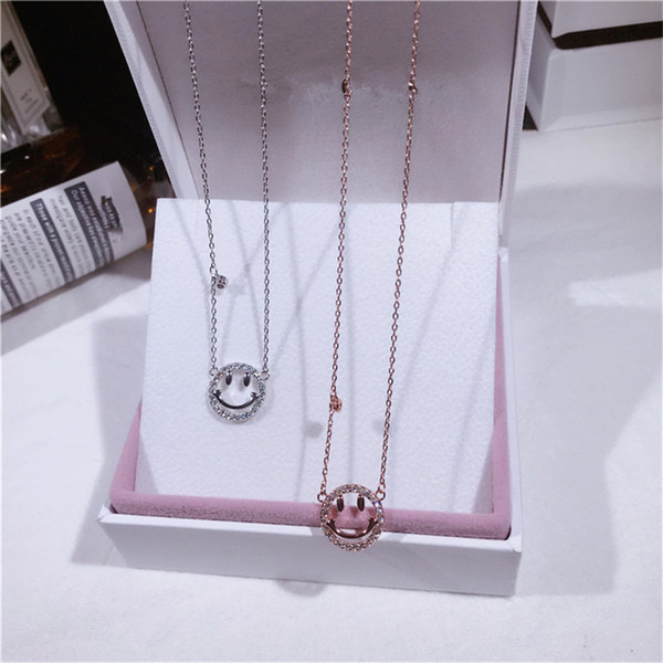 Christmas Jewelry Emoji Cage Silver Necklace Fashion Cartoon Cute Emoji Sterling Silver Pendant Necklace For Women Girls Drop Shipping