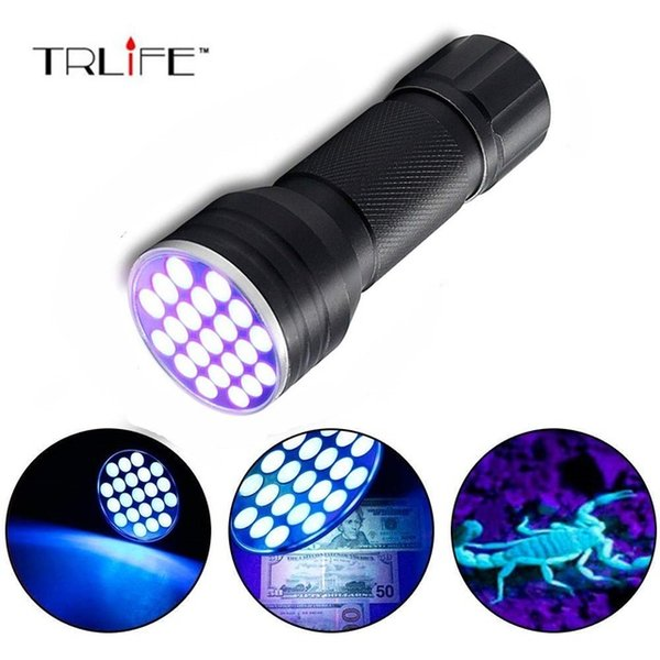 21 LED UV Ultra Violet Blacklight Pocket Flashlight for Spotting Scorpions and Bed Bugs Dog Cat Urine and Stains, A/C Leaks, Pet