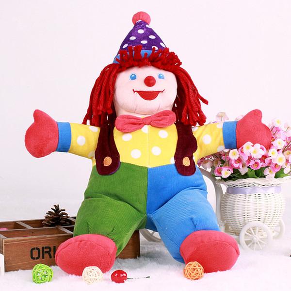 Nouveau Le Joker Clown En Peluche Jouets Mignon Dessin Animé Faveur Clown Poupées Bébé Enfants Sommeil Confort Poupée De Noël Cadeau D'anniversaire 50 cm