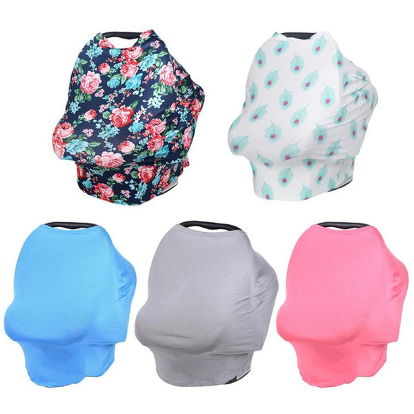Baby Canopy Nursing Cover Stretchy Scarf Breastfeeding Scarf Shopping Cart High Chair Cover Stroller Car Seat Accessories