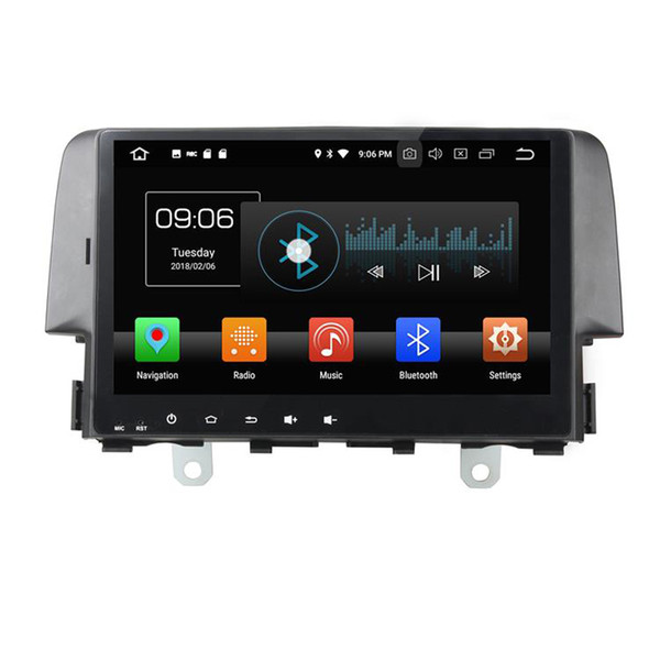 Car DVD player for Honda Civic 2016 10.1inch Octa-core Andriod 8.0 with GPS,Steering Wheel Control,Bluetooth,Radio