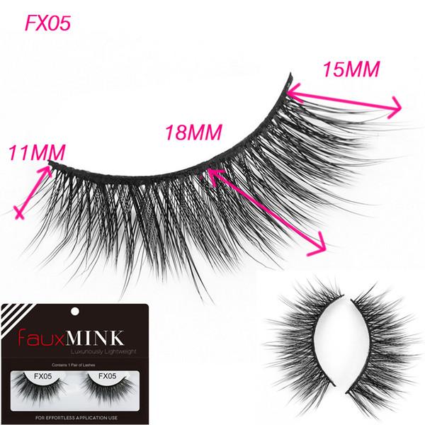 FX05 ciglia naturali lunghe e finte fatte a mano ciglia finte 3d visone eyela seta 3D visone visone strisce cruelty visone gratuito ciglia per il trucco