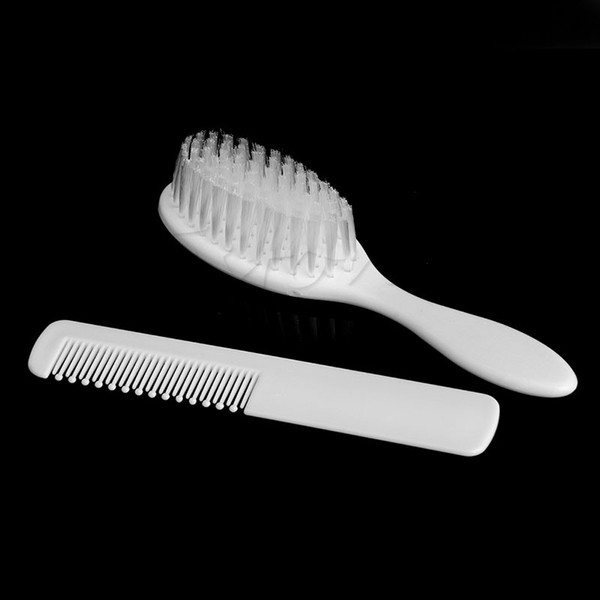 2pcs Baby Hair Brush Infant Comb Grooming Shower Design Pack Kit Safety Soft New