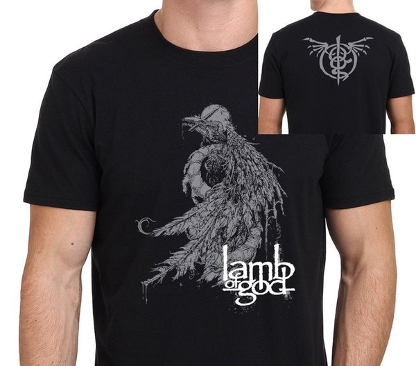 New Lamb Of God Logo Graphic Heavy Metal Rock Band Hombres Camiseta Tamaño: S - To - Xxxl Hombres Camiseta Imprimir Algodón Manga Corta