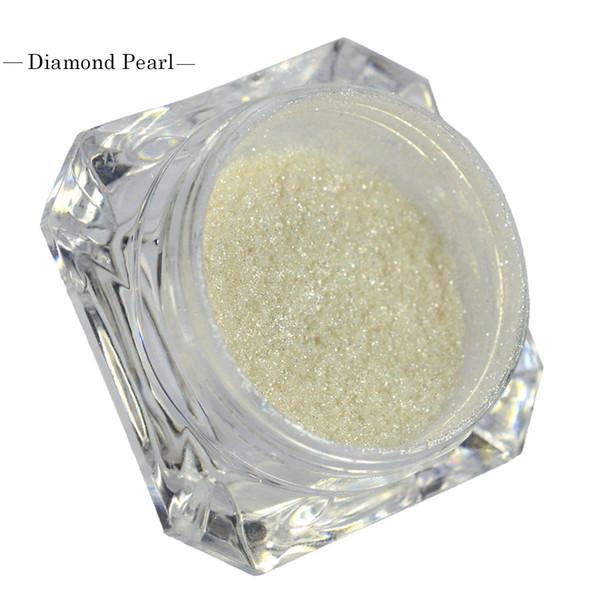 1 box 1g Holographic Glitter Nail Powder White Diamond Pearl Mermaid Magic Effect Nail Art Tips Shimmer Fine Powder Dust TR235