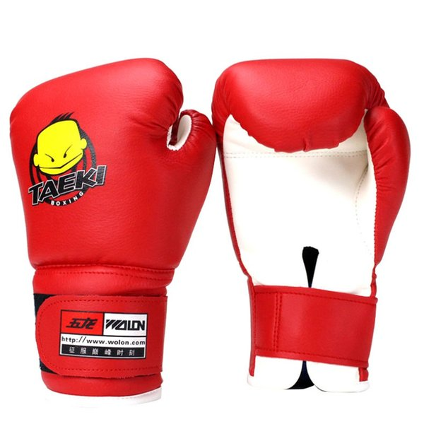 Child 1 Pair Durable Boxing Gloves High Quality Cartoon Sparring Kick Fight Gloves Training Fists PU Leather Boxing Gloves