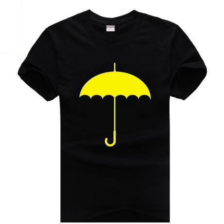 Yellow umbrella How I met Your Mothers Ted sitcoms couple clothes man men male cotton T-shirt