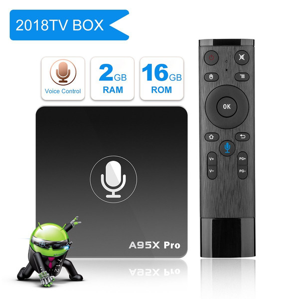 A95X Pro Voice Remote Android TV BOX 7.1 2GB 16GB Wifi HDMI Ethernet HD Player