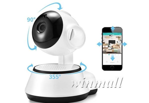 Pan / Tilt Ev Güvenlik Kablosuz Mini IP Kamera Gözetim Kamera Wifi 720 P Gece Görüş CCTV Kamera Bebek Monitörü