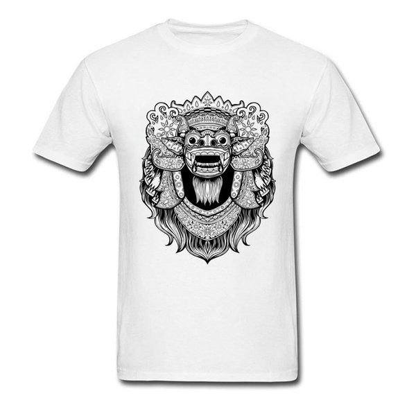 The Barong Drawing T Shirts For Adult Custom Boy Full Cotton Tee Shirt On Sale The Barong Unique Design Digital Printing T-Shirt