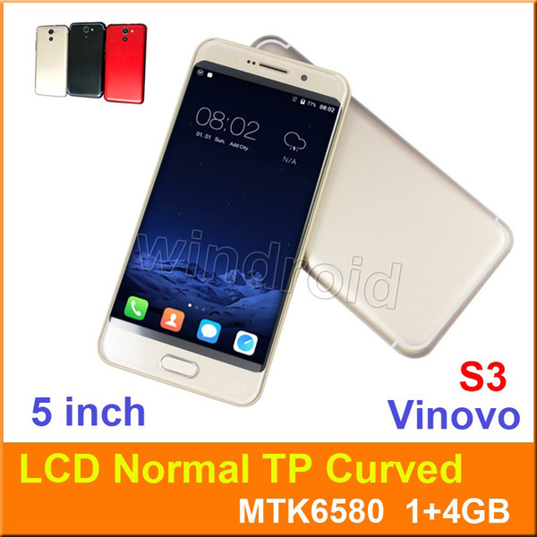 Vinovo S3 5 inch Curved Screen MTK6580 Quad Core 1G 4GB Smart Phone Android 6.0 Mobile phone 3G WCDMA unlocked Dual SIM cam 5MP Gesture wake