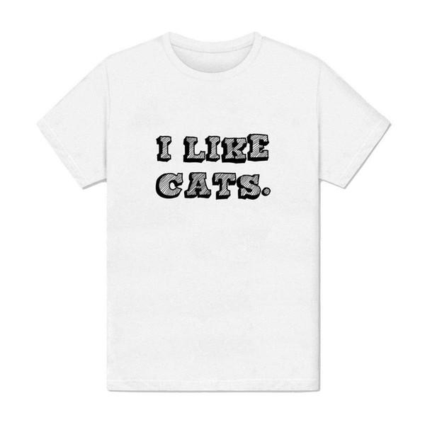 Compre Camiseta Homme Jaime Les Chats Animal Mignon Ronron Adorable Joueurmens 2018 Marca De Moda Camiseta Con Cuello O 100 Algodón A 1208 Del
