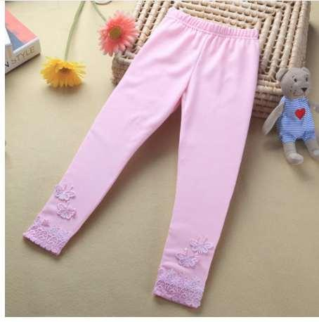 HOT Kid Baby Butterfly Lace Warme Hose Mädchen Stretchy Hose Kleinkind Engen