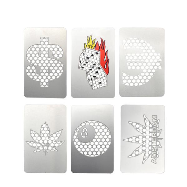 Big Size Credit Card Herb Grinder Stainless Steel YinYang Grinder Card Herb Bud Grinder Card Variety of Design