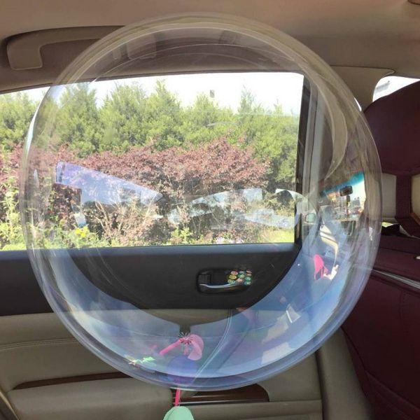 50 pcs 10/18/20/24/36 polegadas Não Enrugamento PVC Claro Balões de Casamento Transparente Decro Hélio ballon Bolas Infláveis presente