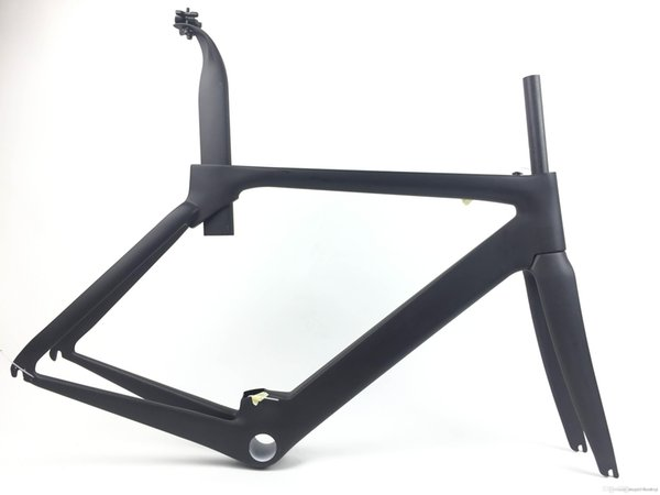 Newest customized S5 700C Road bicycle matte UD full carbon fibre bike frames carbon fork seatpost headsets BBright Free ship