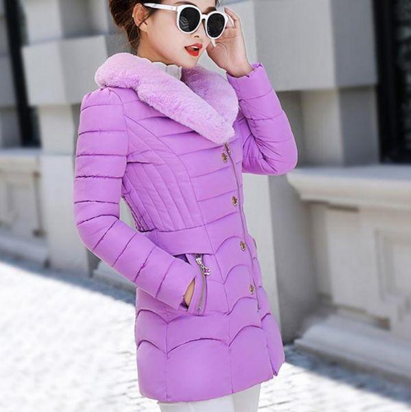 Ücretsiz gönder 2018 yeni Orta uzunlukta pamuk dolgulu giysiler kadın Kore moda kış ceket
