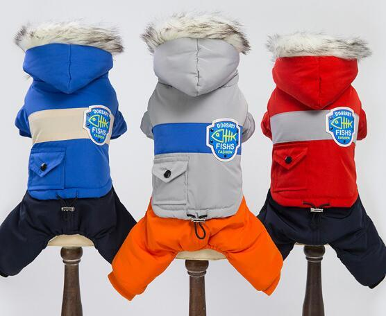 New pet dog clothing, Nei spinning feather down label, four legged cotton padded jacket, free shipping, autumn and winter