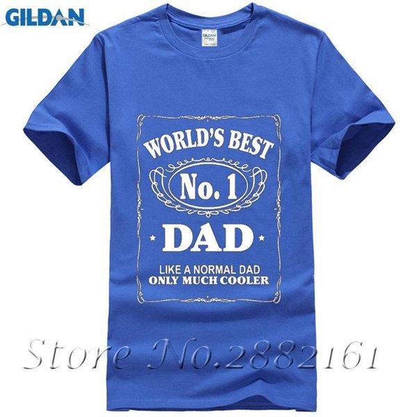 96d8b88d22 Mundo Melhor Número 1 Pai T Camisas Engraçadas do Dia Dos Pais Presente de  Aniversário T-shirt Dos Homens de Algodão Tshirts Soltos Boa Qualidade