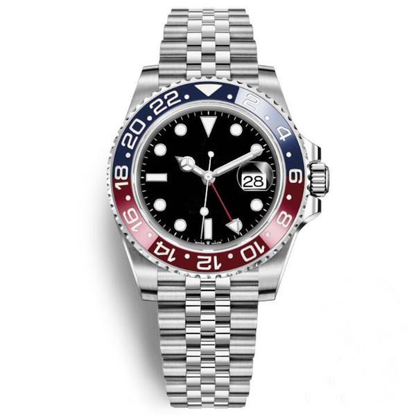 2019 Nuovo arrivo Mens Watch Pepsi GMT orologio movimento automatico ceramica lunetta zaffiro 40mm quadrante giubileo mens orologio da polso maschile orologio