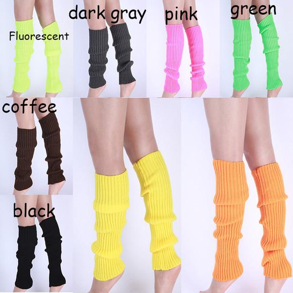 Candy Color Socks Boot Loose Socks Stockings Leg Warmers Warm Cuff autumn Winter for Women Girls Chritsmas Gift Drop Ship 010038