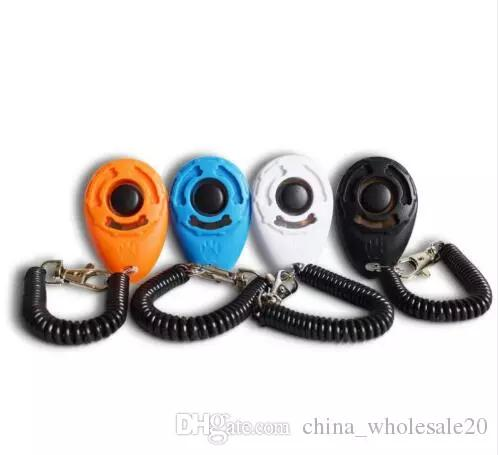 wholesale hot 4 Colors Easy To Carry High-Grade, Scratch-Resistant Pet Dog Sound Training Device Pet Dog Training Clickers AJI-515