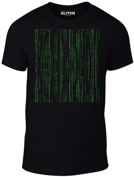 T-Shirt Codice del programmatore da uomo Reality Glitch - Ispirata alla maglietta estiva da uomo The Matrix Hot Sale New Tee Print Top
