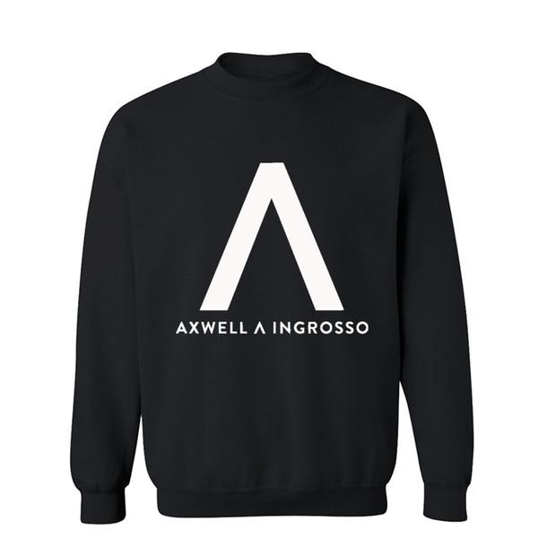 Axwell Ingrosso Yeni Sonbahar Kış Moda Erkek Hoodies Rahat% 100% Pamuk Crewneck Hoodie Kazak