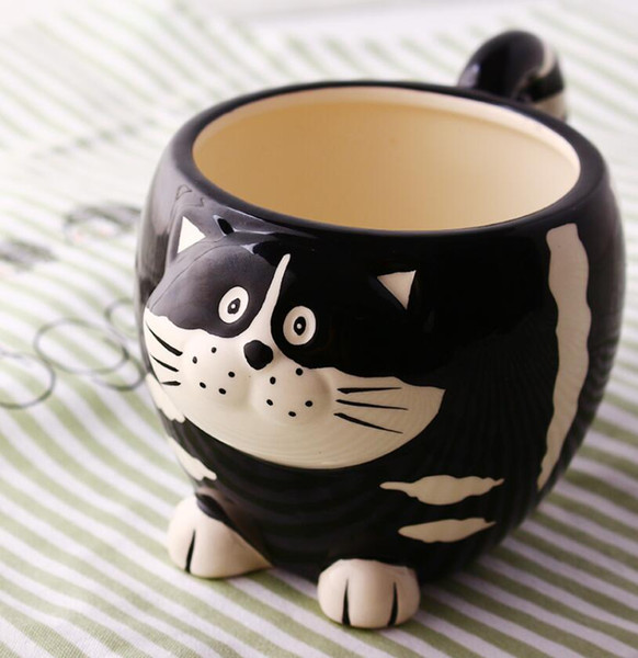 Tea Coffee Mugs Ceramic 3D Ivory Owl Milk Cup Home Decor Craft Room Wedding Decoration Porcelain Figurine Large Animal Cups