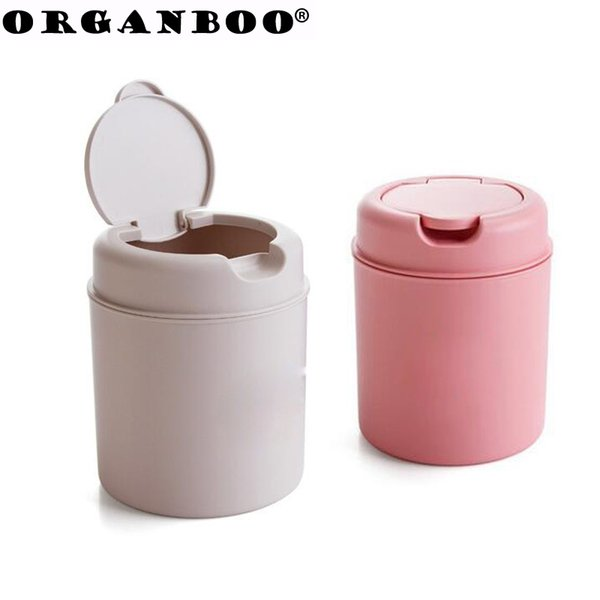 ORGANBOO 1PC Plastic Table Dustbin Sundries Barrel Bins Storage Box Desktop Garbage Box Organizer Office Mini Storage Container