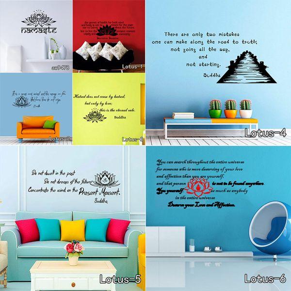 decor 3D OM Sign Mandala Buddha Lotus Stickers Home Decor Computer Flower Sticker Vinyl Adhesive Decals Wall Decoration
