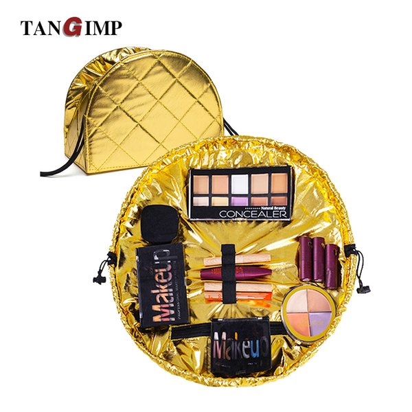 TANGIMP Dropshipping Drawstring  Bags Lazy Cosmetic Case Large Pouch Totes Travel for Girls Waterproof Storage Bag Korea