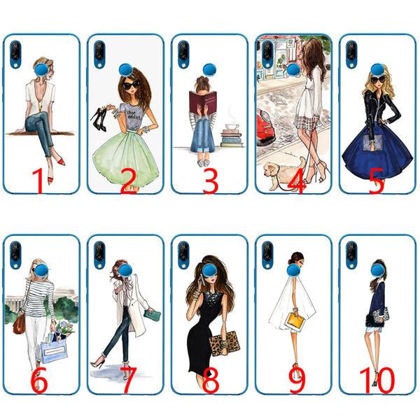 Traveling Beautiful Bikini Girl Soft Silicone TPU Phone Case for Huawei Honor 7A Pro 6A 7X 8 Lite 9 Lite 10 Cover