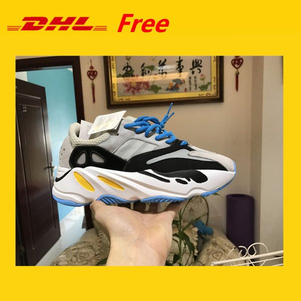 DHL FREE Kanye West Wave Runner 700 Boots Mens Women Basketball Shoe Athletic Sport Shoes Running Outdoor Travel Exercise Workout Shoes