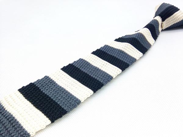 db36d0db442b Solid Mens Knit Ties Skinny Slim Narrow Polka Dotted Jacquard Woven Square  Flat Bottom Textured Neckties