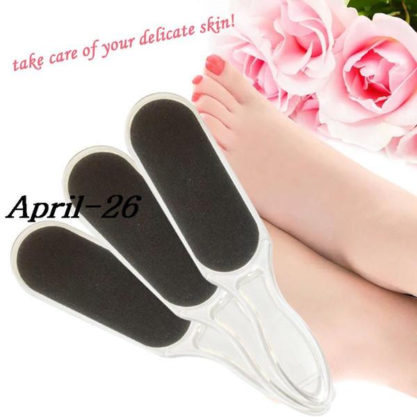 5PCS plastic handle black sanding foot care tool files scraper pedicure callus remover shaver foot rasps