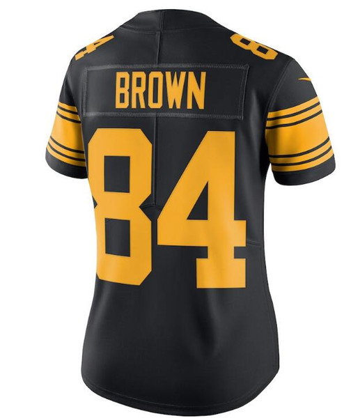 official photos 5dd23 52793 Antonio Brown Jersey JuJu Smith Schuster James Conner Le'Veon Bell Teams  Color Pro Bowl Custom America Football Jersey Women Men Youth Kids Fun T ...